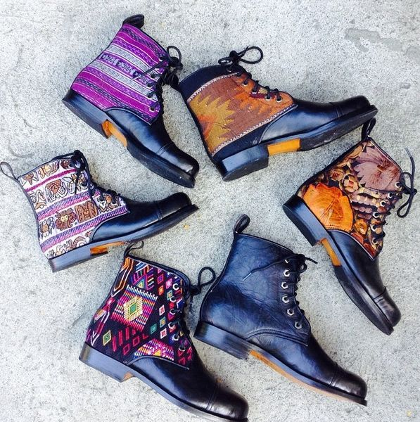 Black Teysha Peace boots all around!  *Handmade in Guatemala *Custom fit to your feet, Designed by You www.teysha.is