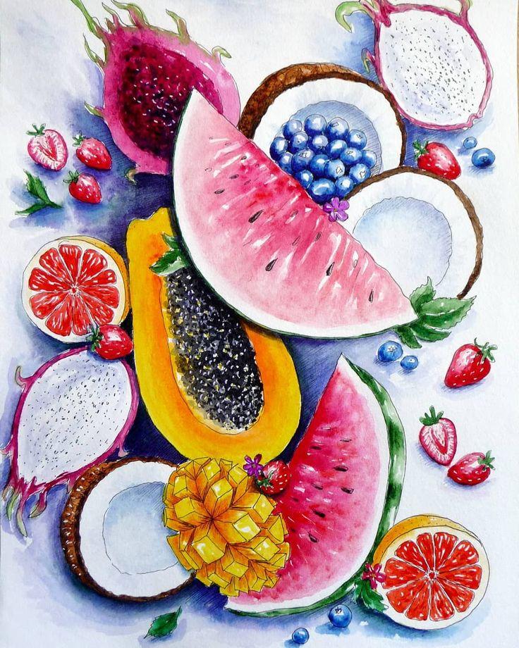 полностью как нарисовать фрукты фото вот теперь очень
