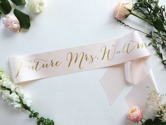 Customize this 3.5 or 4 satin sash with your own colors and future last name…