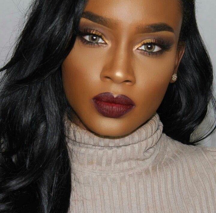 Dark Skinned Black Lips Natural