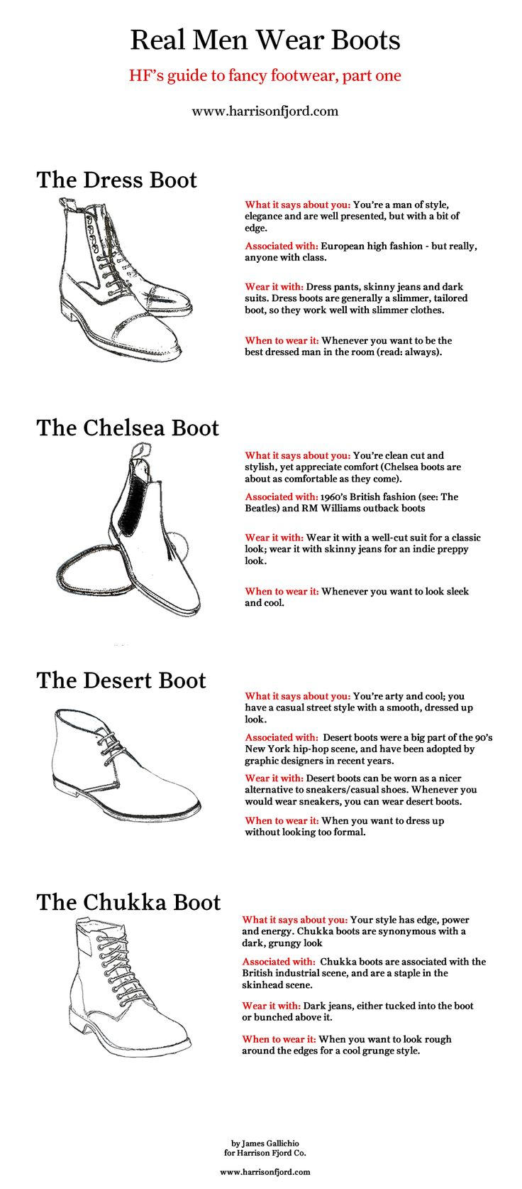 Harrison Fjord's Guide to Fancy Footwear: Real Men Wear Boots