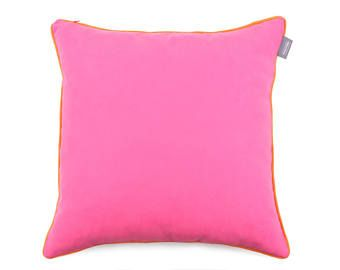 We Love Beds Orange And Raspberry Pillow Case -    Edit Listing  - Etsy
