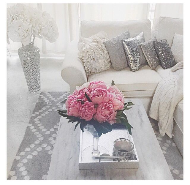 Carly Christmans apartment. Grey decor, interior decor, home style