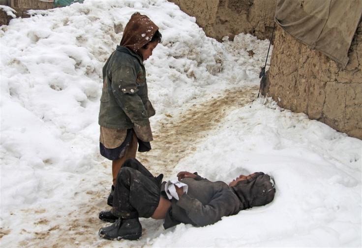 IDP children at an informal settlement area inside Kabul, Afghanistan