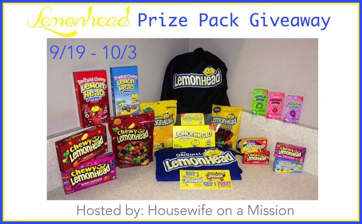 Housewife on a Mission: Classic and New Lemonhead Candies By Ferrara Candy Company | Prize Pack Giveaway