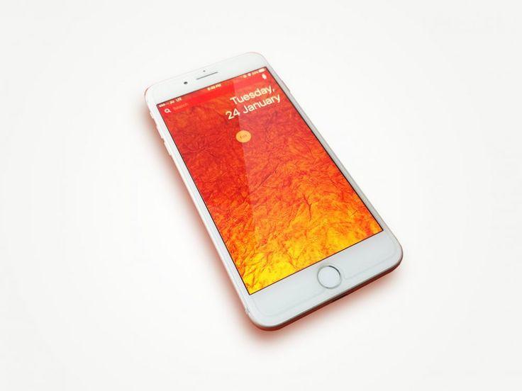Rose-Gold iPhone Mockup