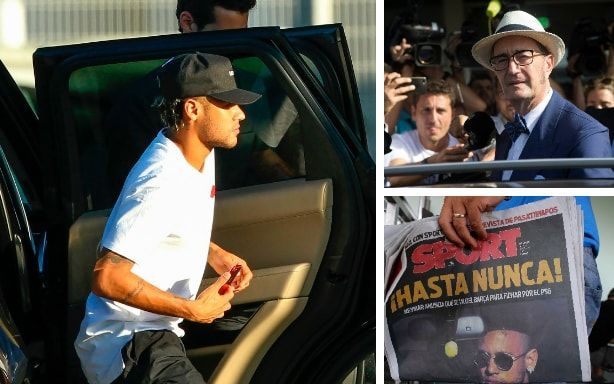 Barcelona accept £198m cheque from Neymar lawyers to pave way for world-record PSG transfer