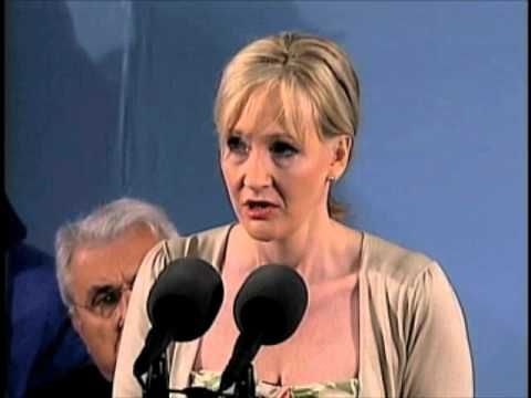 J.K. Rowling Speaks at Harvard Commencement - YouTube