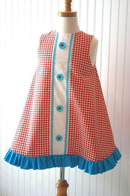 Orange and Turquoise front panel dress   Flickr - Photo Sharing!