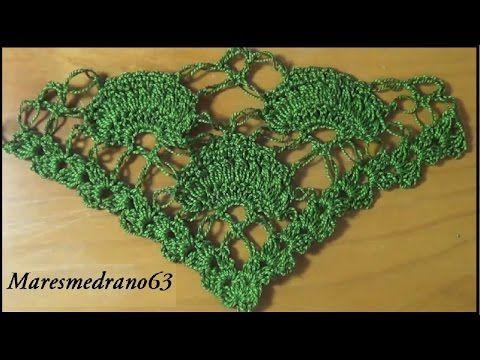 Chales Triangulares para tejer a crochet / 20 tutoriales | Crochet y Dos agujas - Patrones de tejido