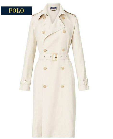 Soldes Trench Femme Ralph Lauren, achat Trench-coat en sergé Ralph Lauren prix Robe Ralph Lauren 249.00 € TTC au lieu de 499 €