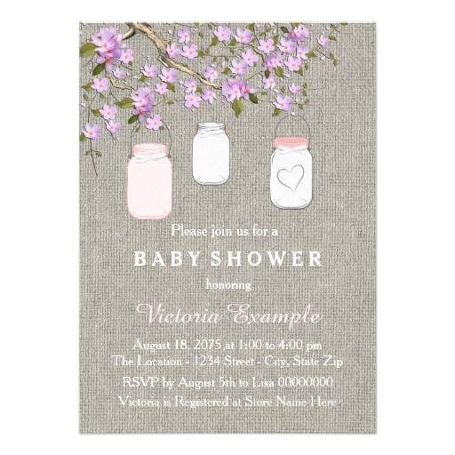 329 best mason jar baby shower invitations images on pinterest, Baby shower invitations