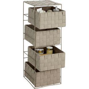 Buy ColourMatch 4 Drawer Storage Unit - Cafe Mocha at Argos.co.uk - Your Online Shop for Bathroom shelves and units.