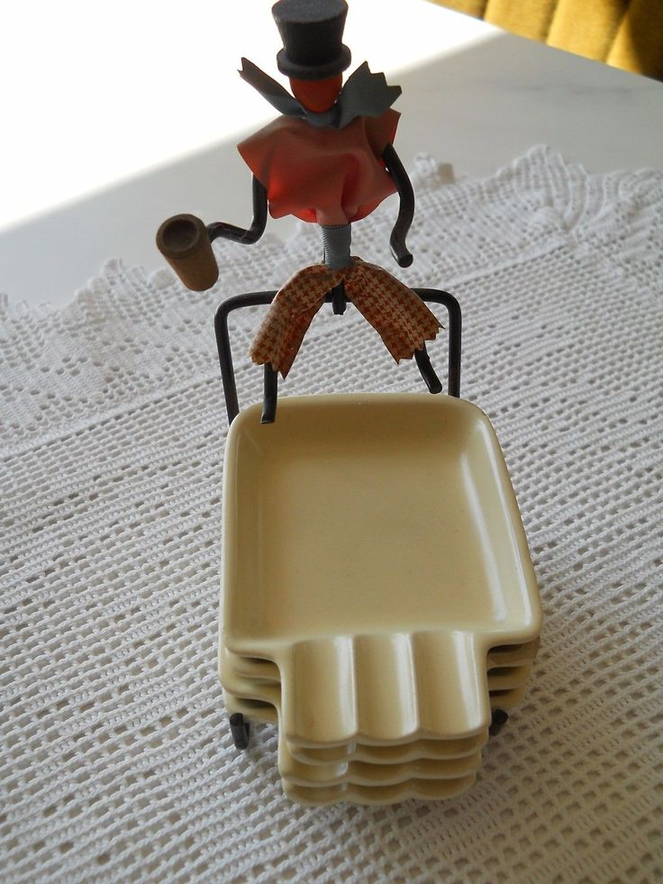 50er years Wire Male Small Bowl Holder Ashtray Rockabilly   eBay