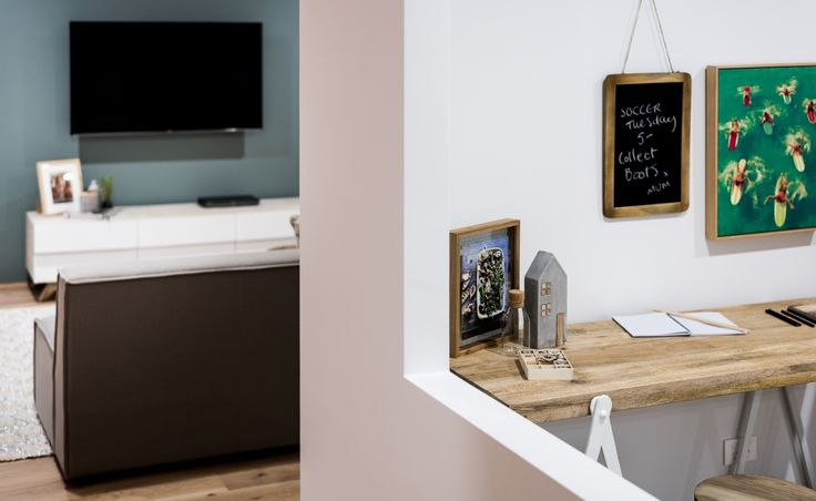 The activity space has a feature aperture window looking over the family living areas, making it easy to keep an eye on the kids