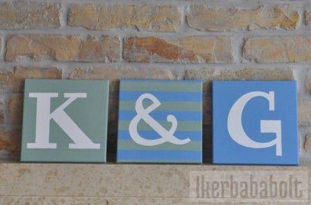 Monogramos dekoráció, www.ikerbababolt.hu