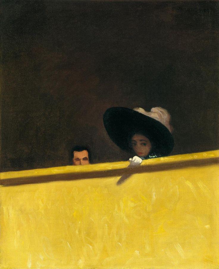 Felix Vallotton (Swiss, 1865-1925), La Loge de Théâtre, Le Monsieur et La Dame, 1909. Oil on canvas.