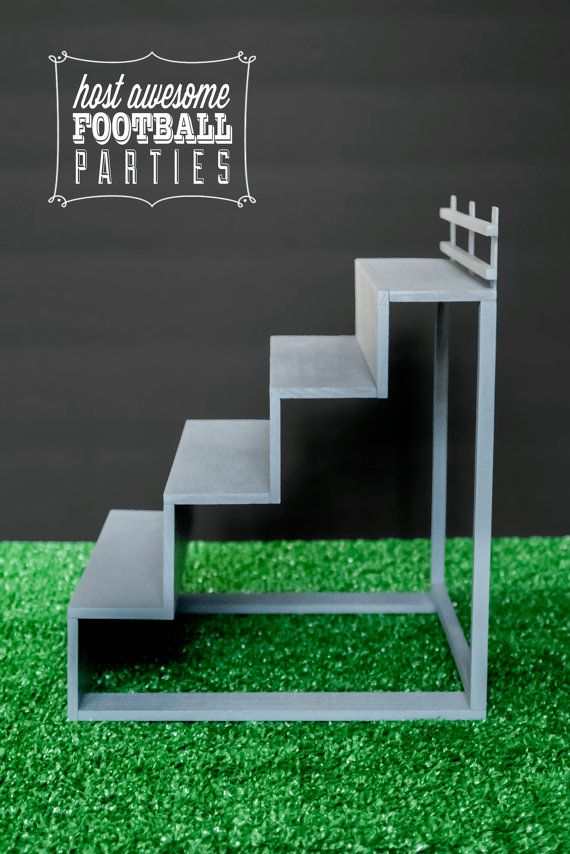 Football Bleacher Stand Large Size with Railing by HelloMySweet