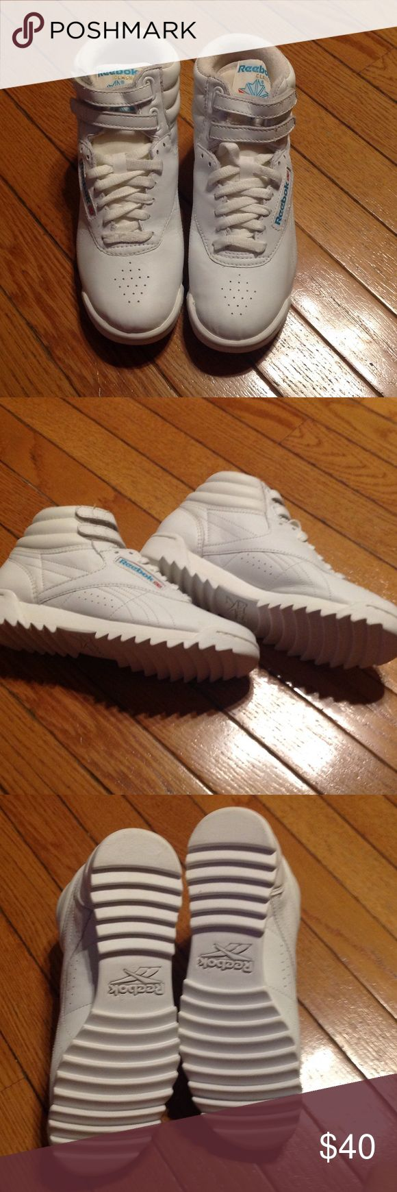 Reeboks classic freestyle hi rip Never worn Reebok Shoes Sneakers