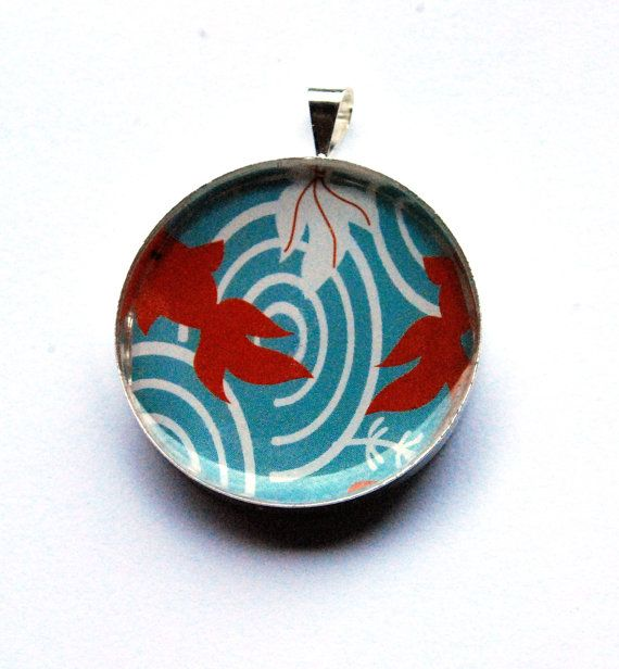 Red white and blue fish themed #pendant for girls by ZoseDesigns