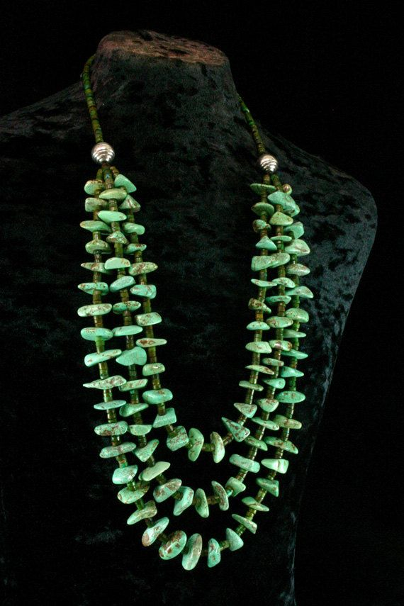 Multistrand Turquoise Necklace  by ByDivineCollectibles on Etsy, $234.00