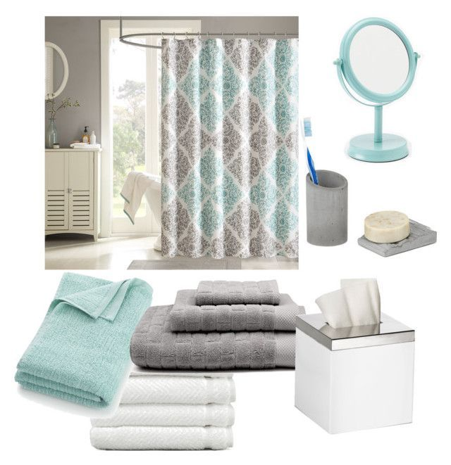 Bathroom Seafoam Green White Gray By Bbn0306 Liked On Polyvore Featuring Interior
