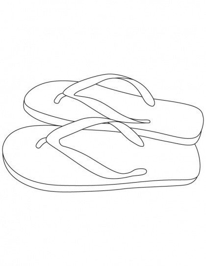 Slippers coloring pages | Download Free Slippers coloring pages for kids | Best Coloring Pages