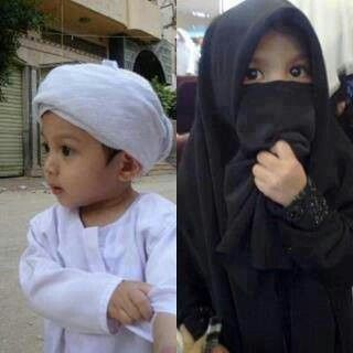 Cute muslim boy n girl