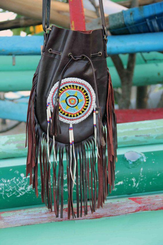 Ledertasche Indianer handmade Boho Tasche indische von etnikabali