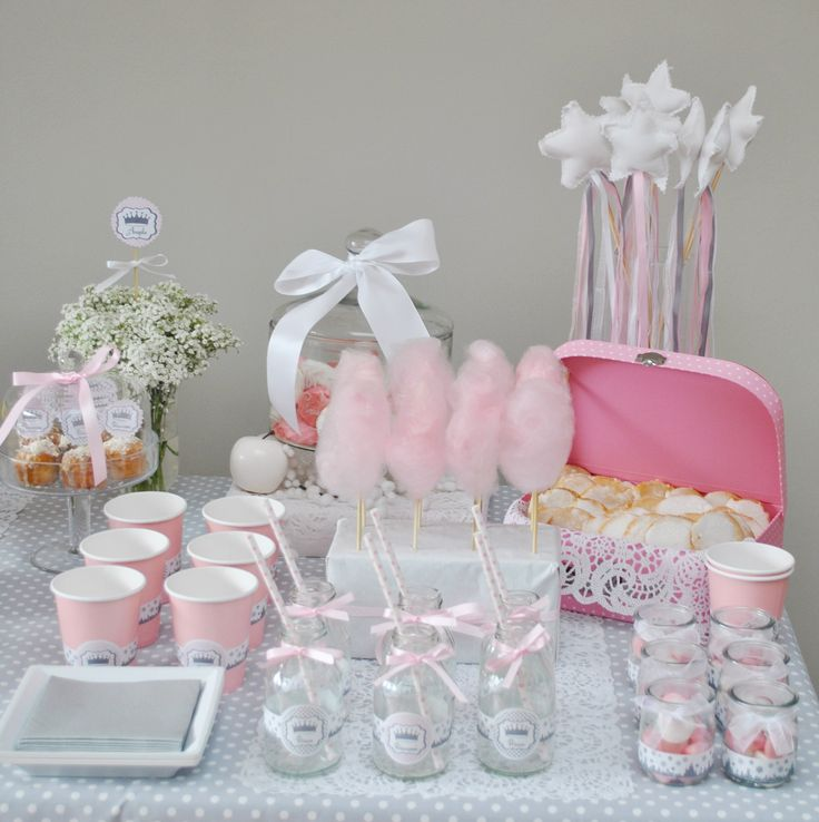 71 best baby shower images on pinterest marriage - Idee deco table bapteme fille ...
