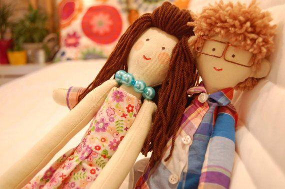 Handmade custom dolls,  dolls made by photo, Lovers, Couple