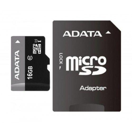 Card de memorie ADATA microSDHC AUSDH16GUICL10-RA1, 16GB, Clasa 10 cu adaptor SD