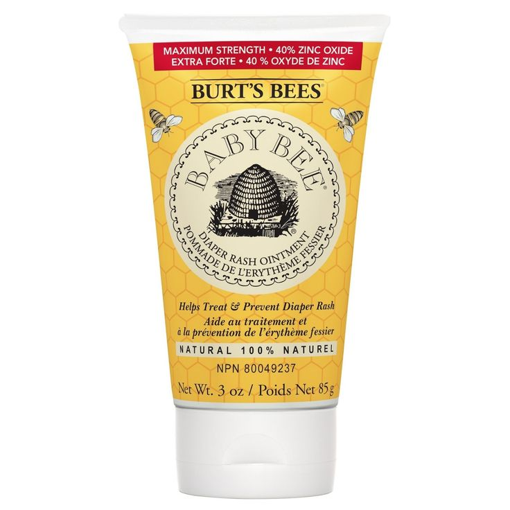 Burts Bees Baby Bee 100% Natural Diaper Rash Ointment has protecting properties to treat and prevent diaper rash. Its 100% natural with 40% zinc oxide, the maximum strength needed to seal out moisture that can irritate your babys bottom. This diaper rash ointment nourishes and reconditions skin naturally with shea butter, lavender oil and jojoba seed oil while creating an emollient layer to absorb wetness leaving babys skin soft, dry, and smooth. Pediatrician-tested and safe for your babys…