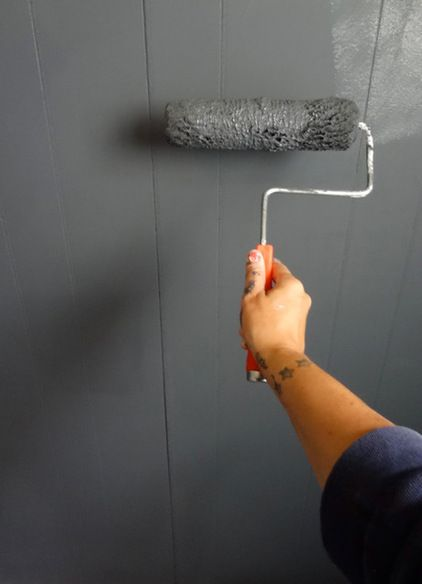 DIY: Make Your Own Chalkboard Paint 1 cup of unsanded grout to half gallon of flat latex paint