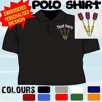 Personalised #embroidered #darts #design team player club t polo shirt,  View more on the LINK: 	http://www.zeppy.io/product/gb/2/160875654635/