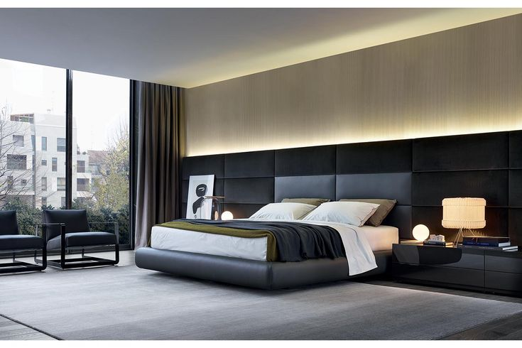 ELEGANT AND SIMPLE BEDROOM DESIGN | Stunning bedroom design with black and a little bit of white | http://www.bocadolobo.com/en/ | #bedroomdecor #luxurydecor