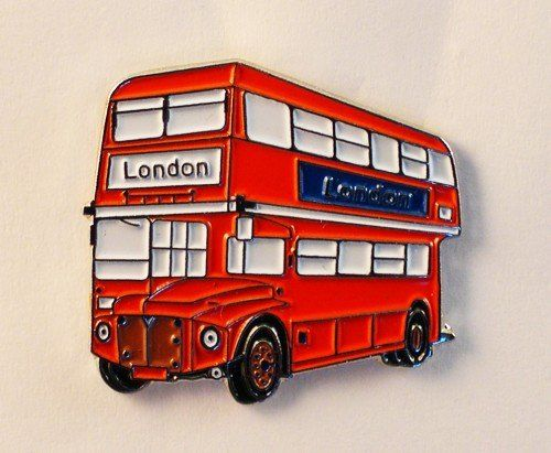 From 1.98 Metal Enamel Pin Badge Brooch London Bus (routemaster)
