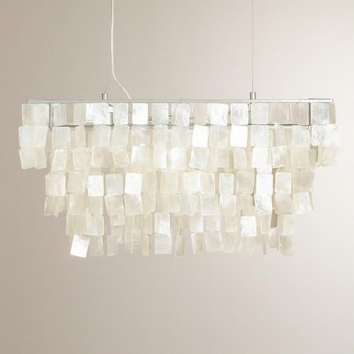 One of my favorite discoveries at WorldMarket.com: Rectangular Natural Capiz Hanging Pendant Lantern On SALE right now for a great price $199!