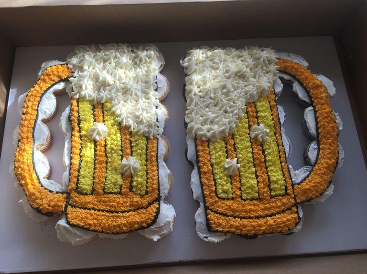 Beer Mug Pull Apart Cupcake Cake Cakes Pinterest