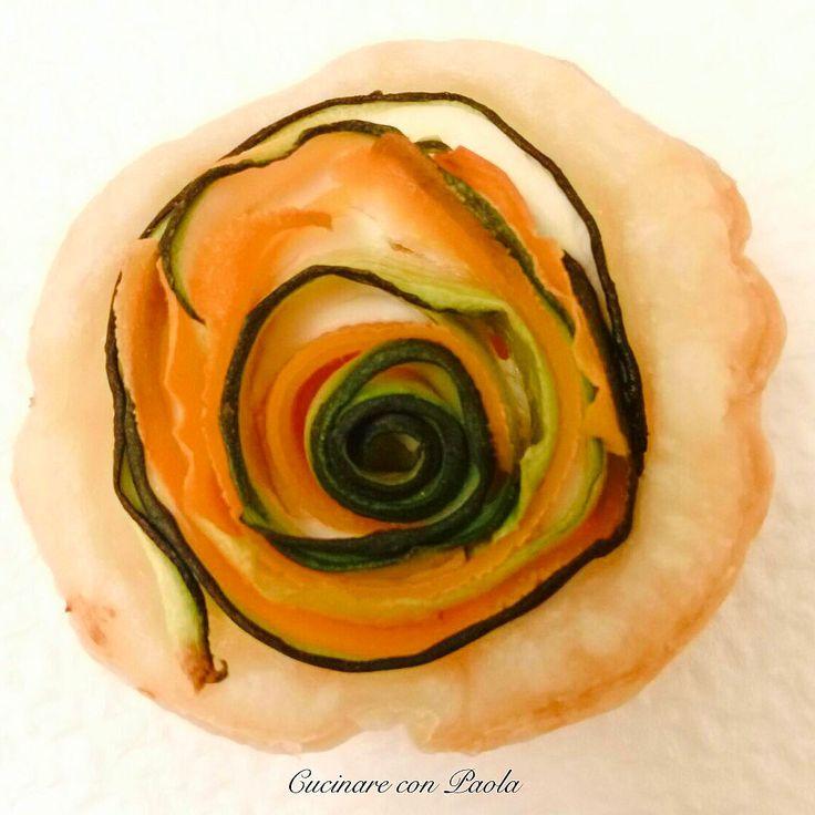 Roselline di carote e zucchine! Ricetta sul blog!