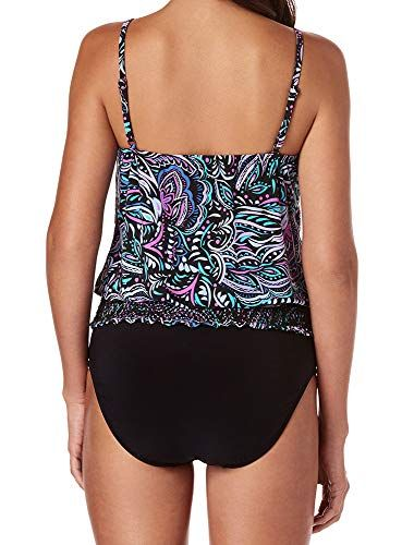 6e848d02a7 Magicsuit Women s Swimwear Gypsy Justina Blouson Style V-Neck Tankini Top  with Soft Cup Bra
