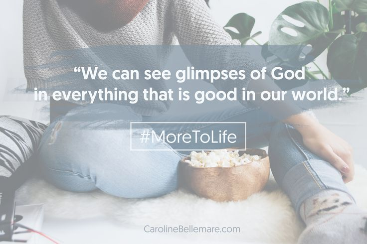 """""""We can see glimpses of God  in everything that is good in our world."""" - We all like a good movie empowering women. The film Wonder Woman is no exception. Find out some biblical lessons we can glean from it. #WonderWoman #MoreToLife #GoodGoodFather #Jesus #Identity"""