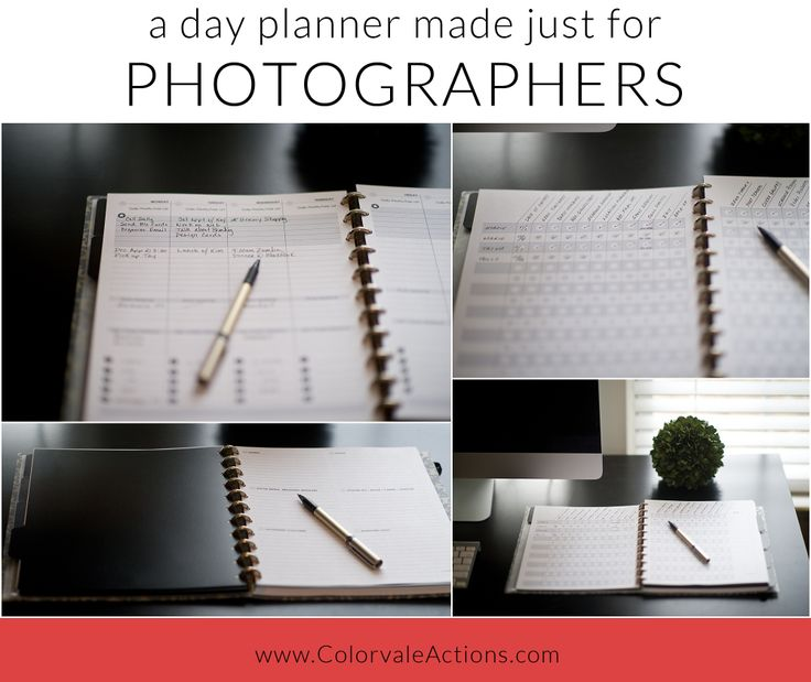 Plan To Succeed – A Photographer's Planner™ – Digital Version
