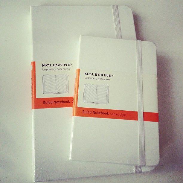 White Moleskines <3