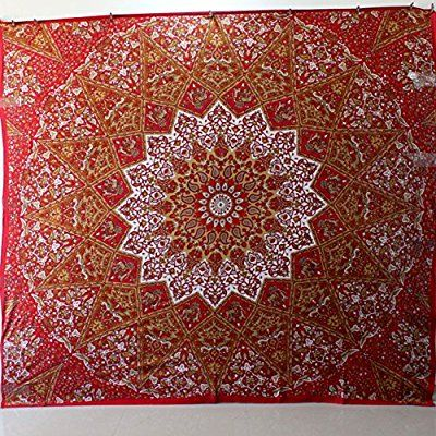 Psychedelic tapestry hippie tapestry mandala tapestry wall hanging wall decor Indian bedspread throw decor art