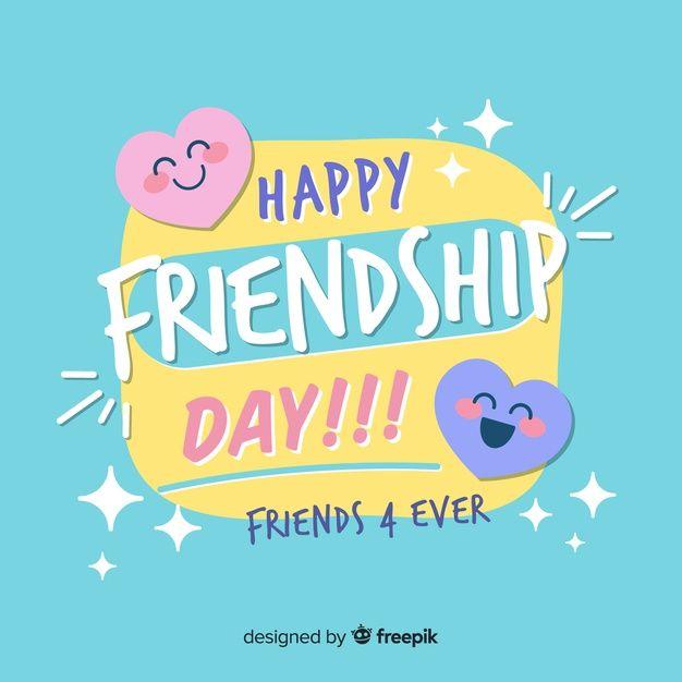 Fundo De Dia De Amizade Design Plano Happy Friendship Day Friendship Day Quotes Happy Friendship