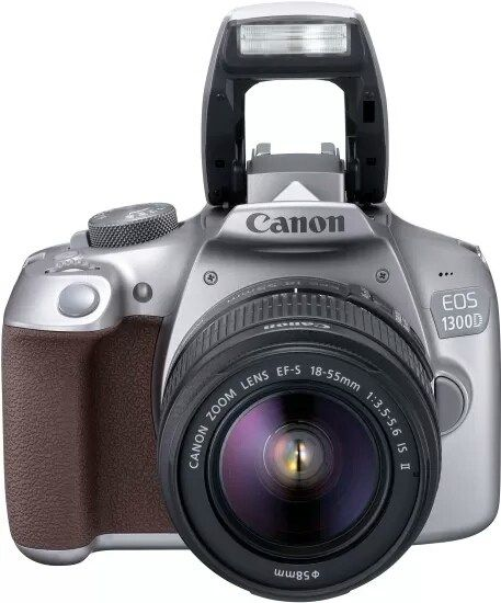 Canon EOS 1300D DSLR Camera (Body with EF-S 18  55 IS II) (Grey) at 29% off