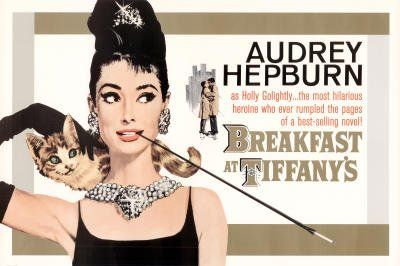 Amazon.com: Breakfast at Tiffany's Movie Audrey Hepburn Gold Poster Print - 24x36 Poster Print, 36x24: Home & Kitchen