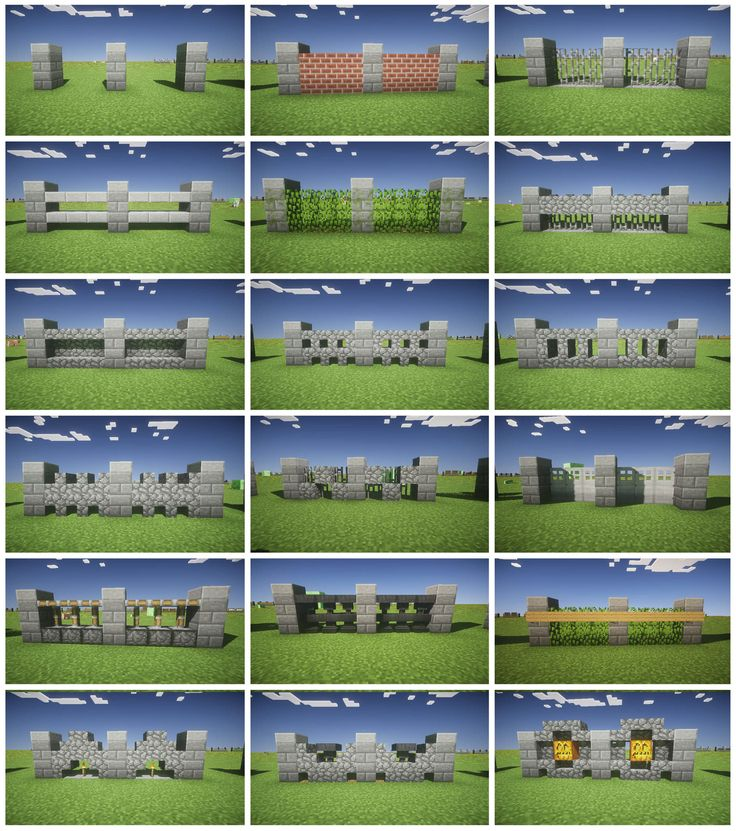 Minecraft fence design