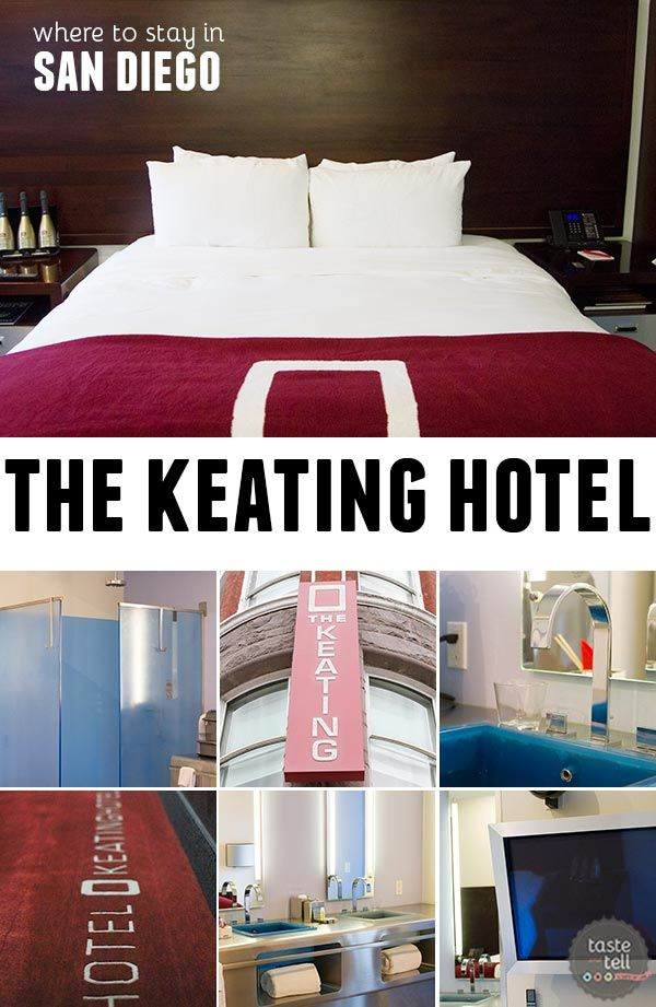 A look at the Keating Hotel in the the Gaslamp District in downtown San Diego, California.